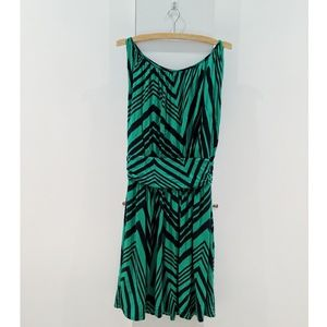 Green & Black Midweight Express Dress
